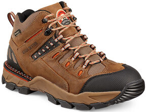 Red Wing Irish Setter Brown Orange Two Harbors HIker Work Boots - Aluminum Toe  , Brown, hi-res