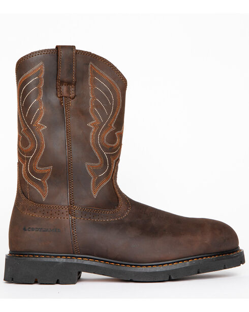 Cody James Men's Comp Toe Western Work Boots - Round Comp Toe, Brown, hi-res