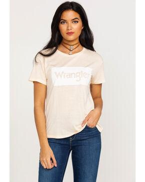 Wrangler Women's Modern Short Sleeve Logo Tee , Coral, hi-res