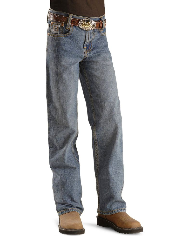 Cinch  Boys' White Label Jeans - 8-16 Slim, Denim, hi-res