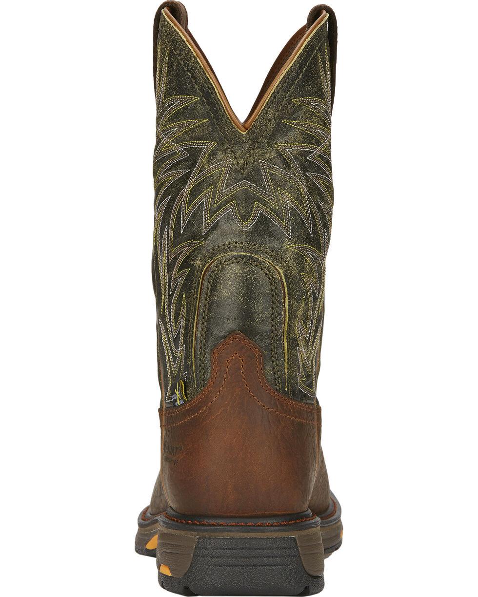 Ariat Men's Workhog Internal Met Guard Work Boots - Composite Toe, Brown, hi-res