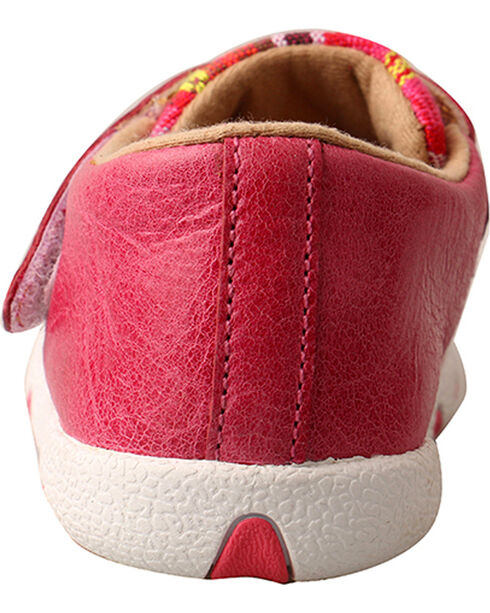Twisted X Infant Girls' Pink Serape Canvas Driving Moc Shoes , Pink, hi-res