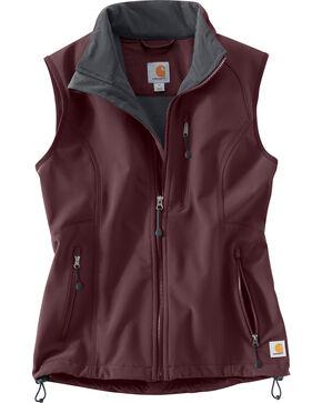 Carhartt Women's Denwood Vest , Wine, hi-res