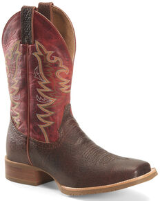 Double H Men's Clifton Western Work Boots - Soft Toe, Chocolate, hi-res