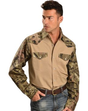 Gibson Trading Co. Camouflage Work Shirt - Big & Tall, Khaki, hi-res