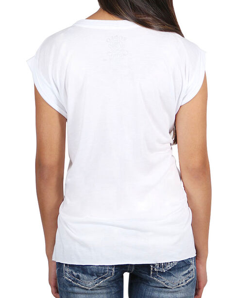 Rodeo Quincy Women's Roses of the Range T-Shirt, White, hi-res
