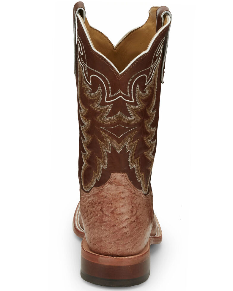 Tony Lama Men's Thoroughbred Smooth Quill Ostrich Cowboy Boots - Square Toe, , hi-res