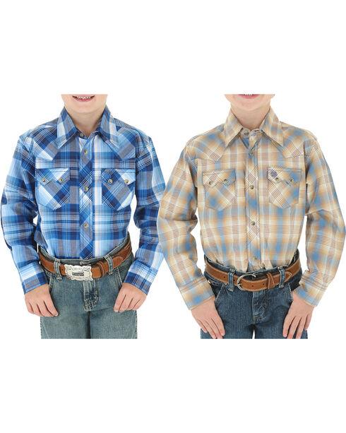 Wrangler Boys' Assorted Western Snap Down Shirt , Multi, hi-res