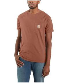 Carhartt Men's Force Cotton Delmont Short Sleeve Work T-Shirt - Big & Tall, Bronze, hi-res