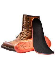 Impacto Anti-Fatigue Memory Foam Insoles - Men's Size 8-9, Black/orange, hi-res