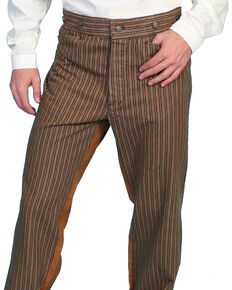 Wahmaker by Scully Cotton Saddle Cut Stripe Pants, Taupe, hi-res
