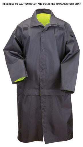 5.11 Tactical Reversible High-Visibility Rain Coat - 3XL, Black, hi-res