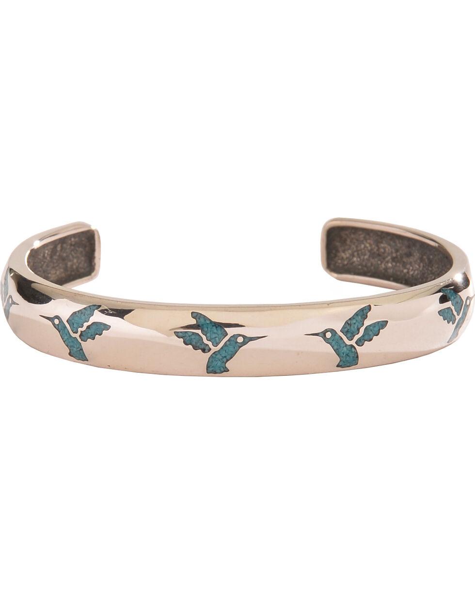 Silver Legends Women's Turquoise Hummingbird Bracelet , Turquoise, hi-res