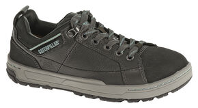 Caterpillar Women's Brode Work Shoes - Steel Toe, Dark Grey, hi-res