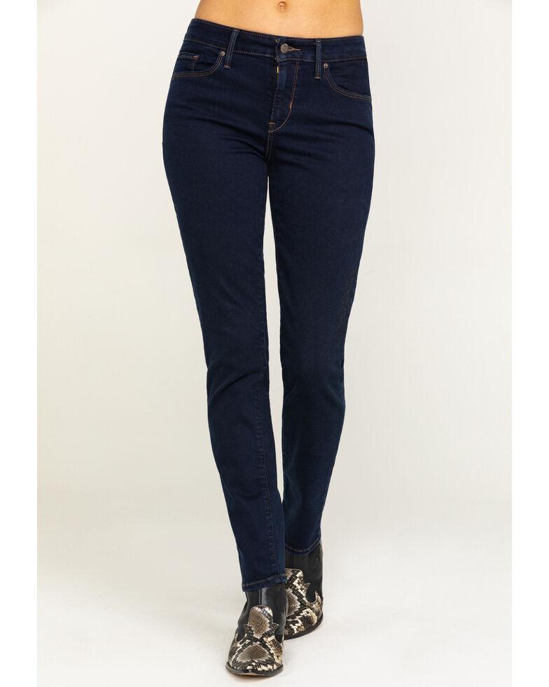 Levi's Women's Classic Dark Wash Skinny Jeans , Blue, hi-res