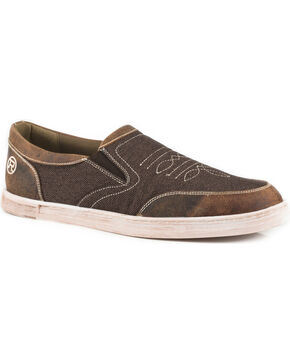 Roper Men's Brown Vagabond Slip-On Shoes , Brown, hi-res