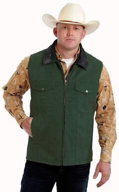 Colorado Saddlery Green Conceal Carry Vest, Green, hi-res