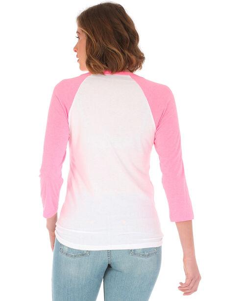Wrangler Women's Pink Logo Baseball Tee, Pink, hi-res