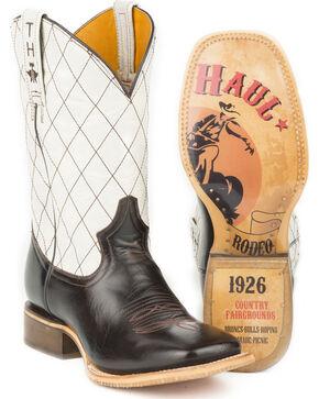 Tin Haul Men's Cowboy Way with Rodeo Sole Cowboy Boots - Square Toe, Brown, hi-res