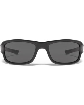 Under Armour Men's UA Edge Shiny Black Sunglasses , Black, hi-res