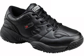 SkidBuster Women's Water-Resistant Lace-Up Work Shoes, Black, hi-res