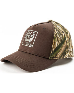 Cinch Men's MAX5 Camo Baseball Cap, Brown, hi-res