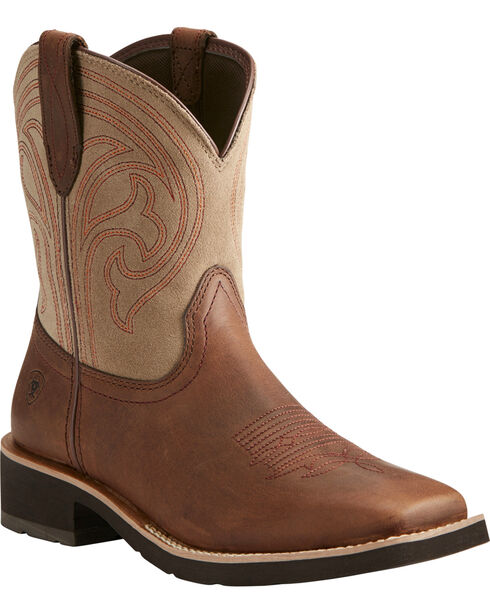 Ariat Women's Brown Shawnee Short Boots - Square Toe , Brown, hi-res