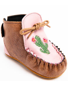 Shyanne Infant Girls' Cactus Moc Shoes - Moc Toe, Brown, hi-res