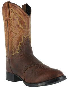 Cody James Boys' Brown Cowboy Boots - Round Toe, Brown, hi-res