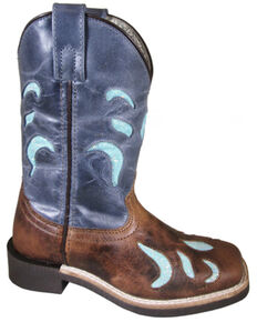 Smoky Mountain Youth Boys' Astrid Western Boots - Square Toe, Brown, hi-res