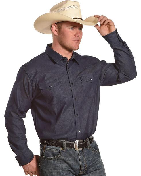 American Worker Men's Duke Denim Work Shirt, Indigo, hi-res