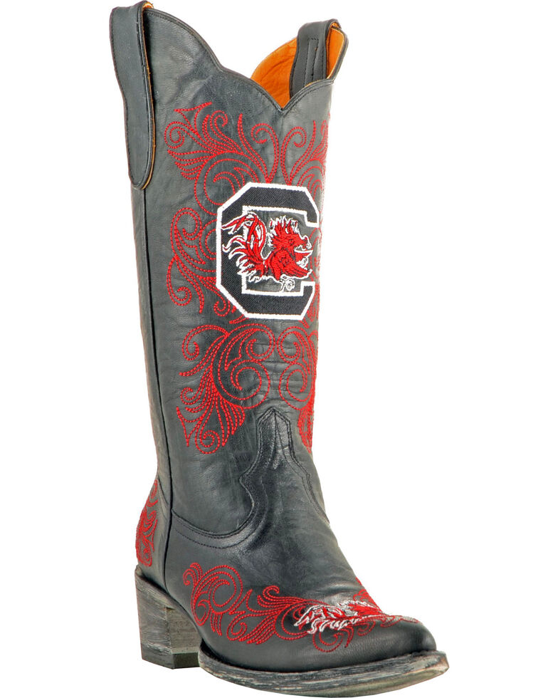 Gameday Women's University of South Carolina Cowgirl Boots - Pointed Toe, Black, hi-res