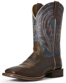 Ariat Men's Circuit Herd Western Boots - Wide Square Toe, Brown, hi-res