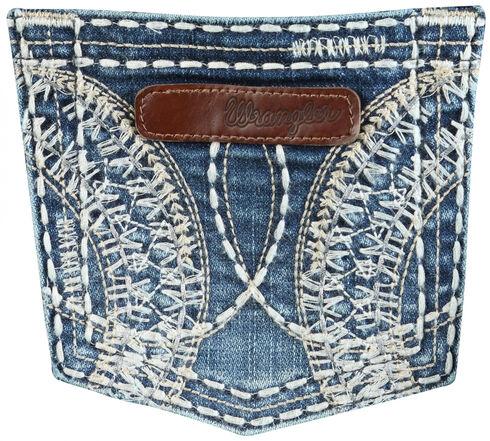 Wrangler Women's Sadie Heavy Side Pocket Stitching Jeans, Denim, hi-res