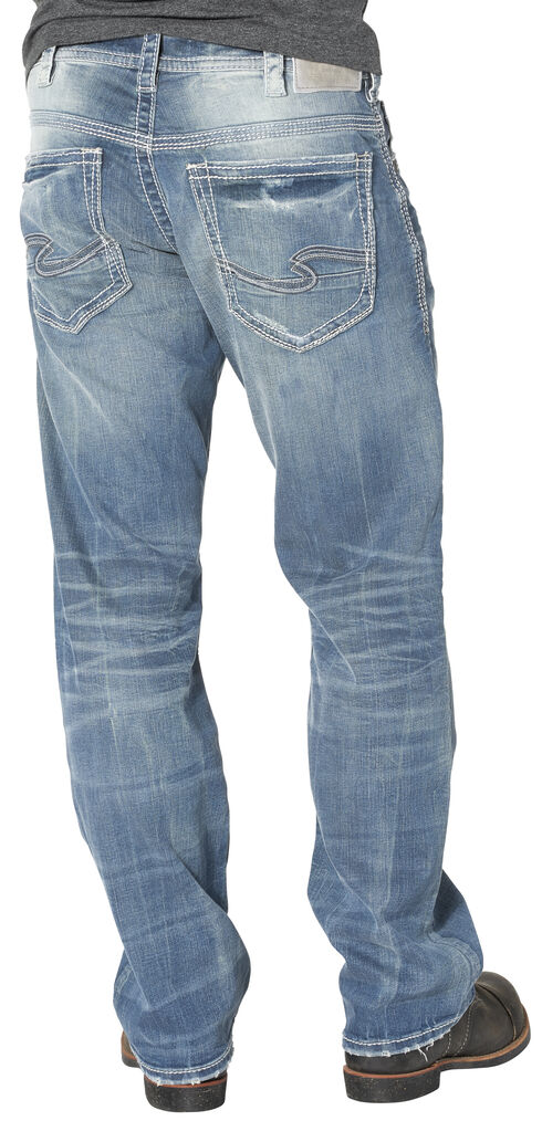 Silver Men's Gordie Loose Fit Straight Leg Jeans, Indigo, hi-res