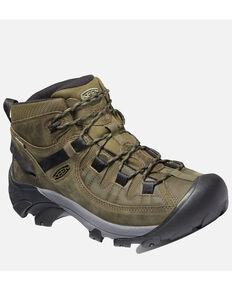 Keen Men's Targhee II Waterproof Hiking Boots - Soft Toe, Olive, hi-res