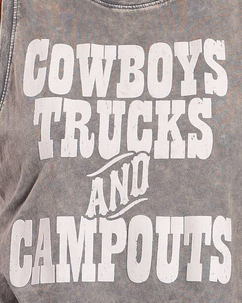 Z Supply Women's Charcoal Cowboys, Trucks, & Campouts Tank , Charcoal, hi-res