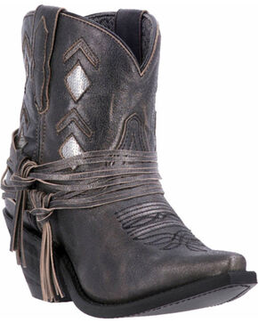 Laredo Women's Laredo Leather Jett Western Booties - Snip Toe, Black, hi-res