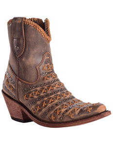 Liberty Black Women's Vintage Canela Boots - Pointed Toe, Brown, hi-res