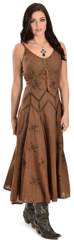 Scully Long Spaghetti Strap Dress, Copper, hi-res