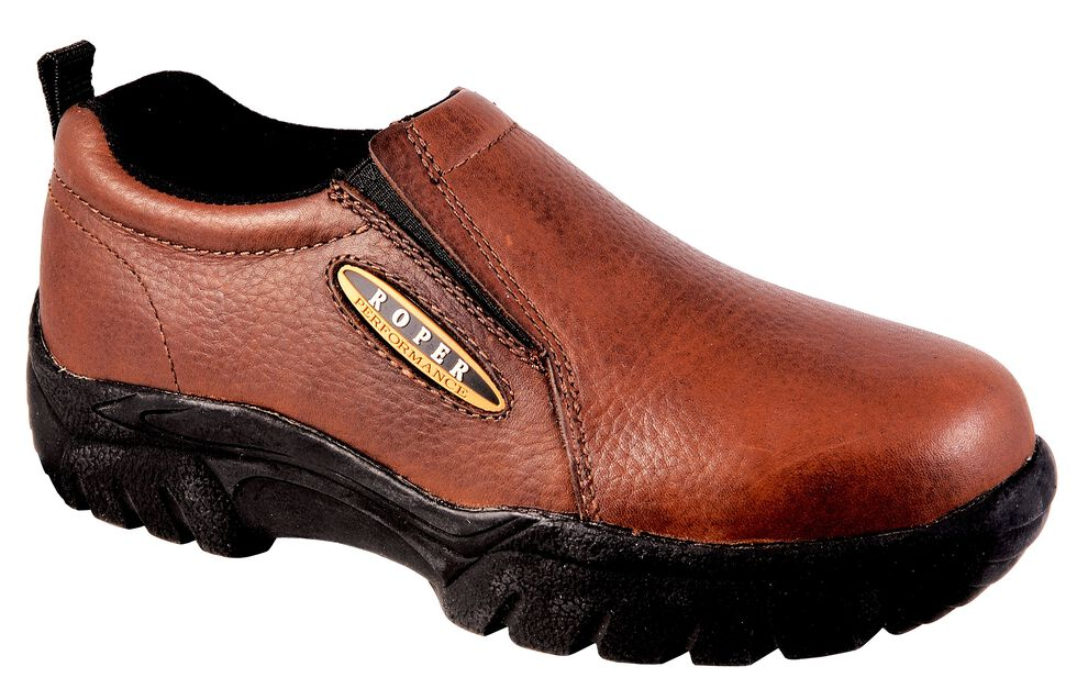Roper Women's Performance Sport Slip-On Casual Shoes - Round Toe, Bay Brown, hi-res