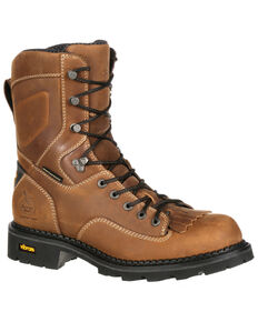Georgia Boot Men's Comfort Core Waterproof  Logger Boots - Composite Toe, Russett, hi-res