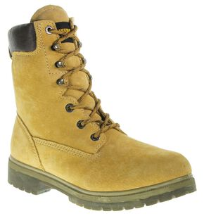 "Wolverine 8"" Waterproof Lace-Up Work Boots - Round Toe, Gold, hi-res"