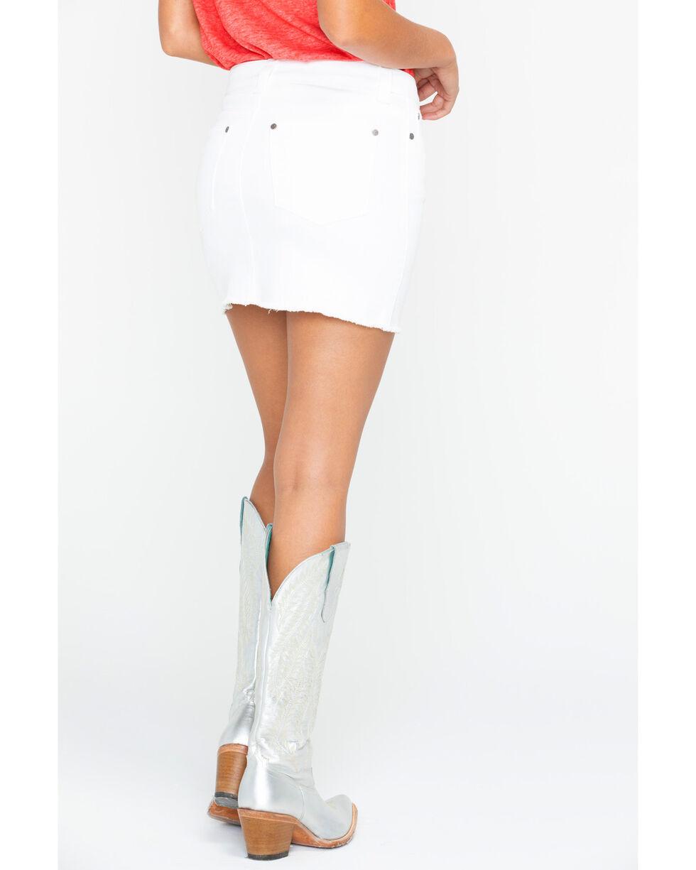 Shyanne Women's White Denim Skirt, White, hi-res