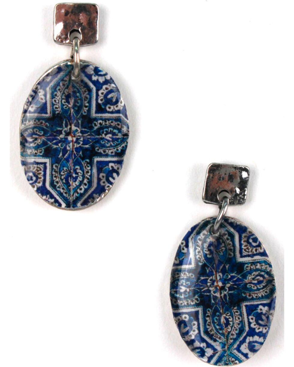 Treska Women's Small Post Drop Earrings, Blue, hi-res