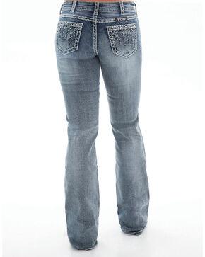 Cowgirl Tuff Women's Crystal Waterfall Jeans - Boot Cut , Indigo, hi-res
