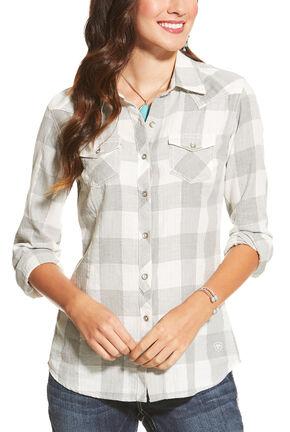 Ariat Women's Heather Grey Ann Button Shirt, Hthr Grey, hi-res