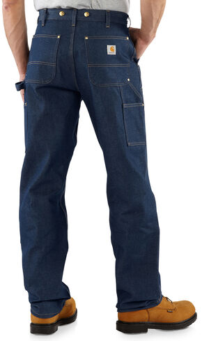Carhartt Double-Front Logger Dungaree Jeans, Denim, hi-res