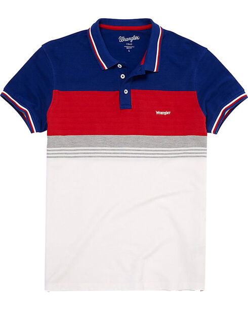 Wrangler Men's 70th Anniversary Retro Slim Fit Polo , Blue, hi-res