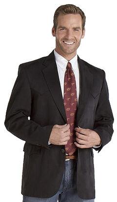 Circle S Men's Microsuede Sport Coat - Tall, Black, hi-res